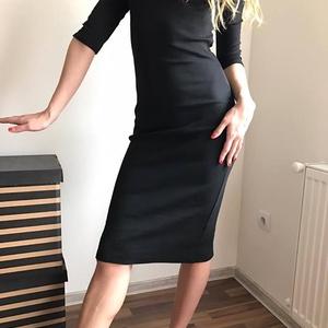 Fekete elasztikus garbós ruha (nikolfashion) - Meska.hu