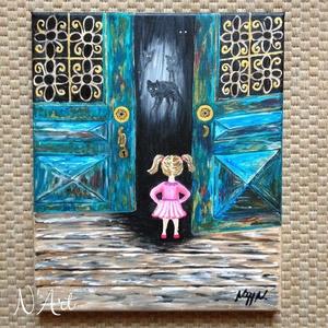 Narnia, Dekoráció, Képzőművészet, Festmény, Akril, Festészet, Egyedi akril festmény feszített vásznon. 25x30cm Eredeti festmény, nem nyomat, nem másolat!   , Meska