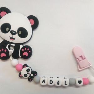 Panda rágcsalánc névvel, Játék & Gyerek, Baba & babaház, Babaruha, babakellék, Gyöngyfűzés, gyöngyhímzés, Bármilyen névvel kérhető rágcsalánc.\nSzilikon alapanyagokból készült marokrágcsa, mely könnyíti a ba..., Meska