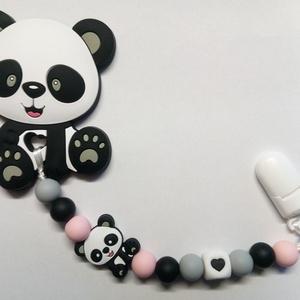 Panda rágcsalánc, Játék & Gyerek, Baba & babaház, Babaruha, babakellék, Gyöngyfűzés, gyöngyhímzés, Meska
