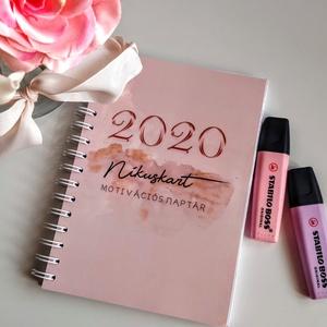 2020 Nikuskart motivációs naptár, Otthon & lakás, Naptár, képeslap, album, Naptár, Festészet, Egyedi tervezésű akvarell illusztrációkkal ellátott motiváló határidőnapló.\n\nTervezd meg az új éved ..., Meska