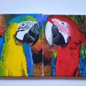 Párosan szép, Művészet, Festmény, Akril, Festészet, Kis méretű , 2 darab vászonkép, külön-külön is jól mutat, de igazán egymás mellett állnak jól. Akril..., Meska