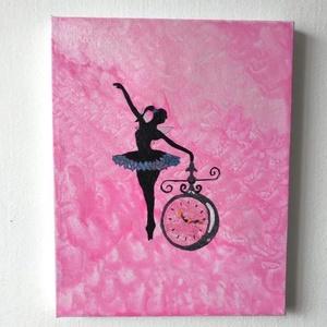 Az idő táncosa-Festmény , Akril, Festmény, Művészet, Festészet, Kép címe: Az idő táncosa\n20X25cm\nAkrilfesték\nVászonra\nEgyedi, saját készítésű\nÁltalam festett kép..., Meska