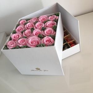 Meglepetés a meglepetésben doboz, Otthon & Lakás, Virágkötés, Bármilyen alkalomra nagyszerű ajándék lehet. Elegáns, egyedi. \n\n\nA fotón szereplő ajándék doboznak a..., Meska