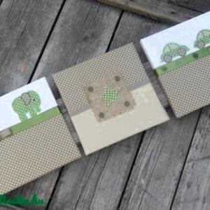 Zöld-beige falikép kollekció babaszobába, gyerekszobába (NoaNoa) - Meska.hu