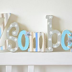 BETŰK, BABABETŰK - 7 betűs név (1500 Ft/betű), Dekoráció, Otthon & lakás, Gyerek & játék, Gyerekszoba, Festett tárgyak, Mindenmás, Egyedileg díszített írott betűket, polisztirol habbetűket kínálunk otthonodba. \n\nKezdőbetű magassága..., Meska