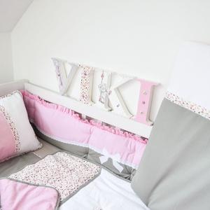 Egyedi applikált rácsvédő babaágyba - rózsaszín álom (NoaNoa) - Meska.hu