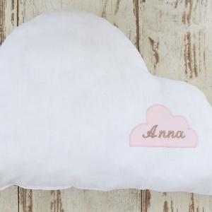 Felhő párna - egyedileg készült párna, Gyerek & játék, Lakberendezés, Otthon & lakás, Lakástextil, Párna, Varrás, Hímzés, Vidám, egyedi felhő formájú párnát készítettünk,igazi kislány szobába illő textilekkel.\n\nA képen lát..., Meska