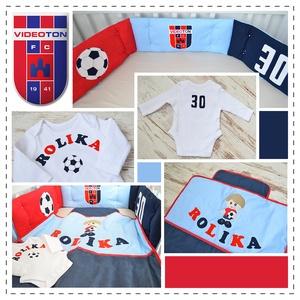 Focista Rolika ágynemű - fehér-piros-kék - takaró+párna (NoaNoa) - Meska.hu