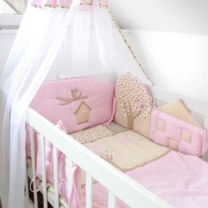 Egyedi házikó formájú - MADÁRKÁS rácsvédő párnaszett babaágyba (NoaNoa) - Meska.hu