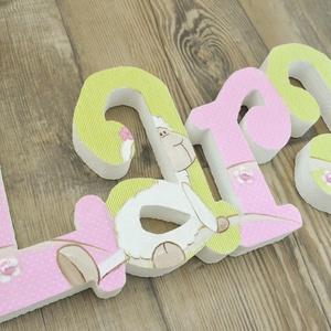 BETŰK, BABABETŰK - 4 betűs név (1500 Ft/betű), Dekoráció, Otthon & lakás, Gyerek & játék, Gyerekszoba, Festett tárgyak, Mindenmás, Egyedileg díszített írott betűket, polisztirol habbetűket kínálunk otthonodba. \n\nKezdőbetű magassága..., Meska