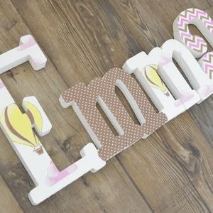 BETŰK, BABABETŰK -4 betűs név (1500 Ft/betű), Dekoráció, Otthon & lakás, Gyerek & játék, Gyerekszoba, Festett tárgyak, Mindenmás, Egyedileg díszített írott betűket, polisztirol habbetűket kínálunk baba- és gyerekszobába.\n\nKezdőbet..., Meska