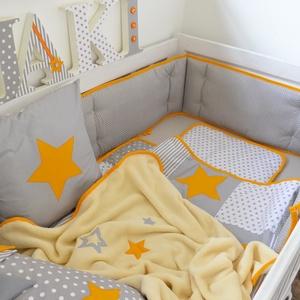 Csillagmintás patchwork ágynemű - takaró+párna (NoaNoa) - Meska.hu