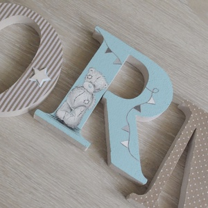 BETŰK, BABABETŰK - Norman style (445.), Dekoráció, Otthon & lakás, Gyerek & játék, Gyerekszoba, Festett tárgyak, Mindenmás, Egyedileg díszített polisztirol habbetűket kínálunk baba- és gyerekszobába. \n\nA feltüntetett ár 1 db..., Meska