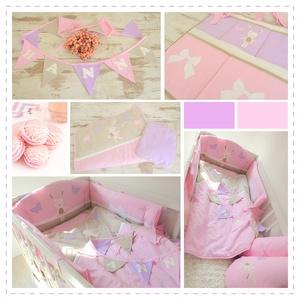Ágynemű -rózsaszín-lila- takaró+párna-HANNA style (NoaNoa) - Meska.hu