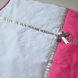Ágynemű -takaró+párna-pink-fehér-ezüst-szürke-PETRA style (NoaNoa) - Meska.hu