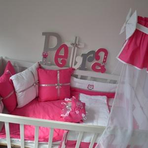 Párna-pink-ezüst-PETRA style (NoaNoa) - Meska.hu