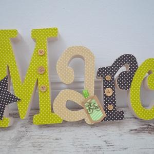 BETŰK, BABABETŰK - 5 betűs név (1500 Ft/betű), Dekoráció, Otthon & lakás, Gyerek & játék, Gyerekszoba, Festett tárgyak, Mindenmás, Egyedileg díszített írott betűket, polisztirol habbetűket kínálunk baba- és gyerekszobába.\n\nKezdőbet..., Meska