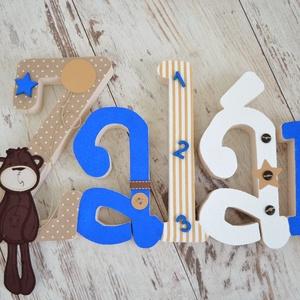 BETŰK, BABABETŰK - 5 betűs név (1500 Ft/betű), Dekoráció, Otthon & lakás, Gyerek & játék, Gyerekszoba, Festett tárgyak, Mindenmás, Egyedileg díszített írott betűket, polisztirol habbetűket kínálunk otthonodba. \n\nKezdőbetű magassága..., Meska