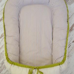 BABAFÉSZEK - beige, zöld, csíkos (903.) (NoaNoa) - Meska.hu