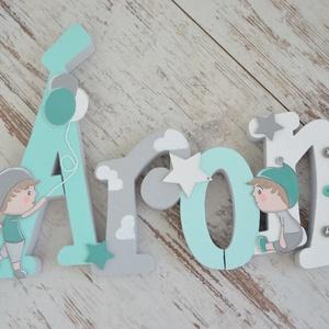 BETŰK, BABABETŰK -4 betűs név (1500 Ft/betű), Dekoráció, Otthon & lakás, Gyerek & játék, Gyerekszoba, Festett tárgyak, Mindenmás, Egyedileg díszített írott betűket, polisztirol habbetűket kínálunk otthonodba. \n\nKezdőbetű magassága..., Meska