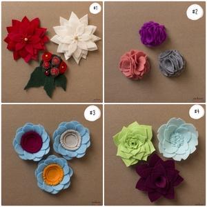Háromrészes filc virág motívumú hűtőmágnes szett (több változat), Konyhafelszerelés, Otthon & lakás, Hűtőmágnes, Dekoráció, Lakberendezés, Mindenmás, | Vásárlás után írd meg, melyik változatot/változatokat szeretnéd, a képek jobb felső sarkában talál..., Meska