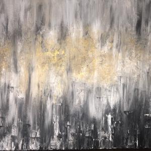Waterfall - Kézzel festett absztrakt akril vászonon, Otthon & lakás, Képzőművészet, Festmény, Akril, Festészet, Waterfall - Kézzel festett egyedi akril\nVászon/70x50cm, Meska