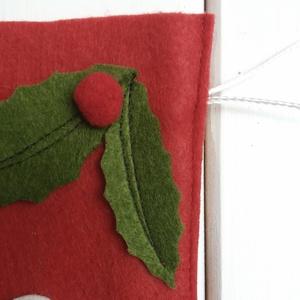 filc csizma, mikulás csizma, ajándék tartó, dekoráció (Noemi8501) - Meska.hu