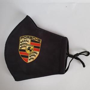 Porsche fekete maszk, arcmaszk, Maszk, Arcmaszk, Férfi & Uniszex, Varrás, A design anyagból készült szájmaszk anyaga kívül vászon, és belső részén jól átlélegezhető polieszte..., Meska