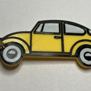 VW bogár kulcstaró, Táska, Divat & Szépség, Kulcstartó, táskadísz, Férfiaknak, Egyéb, Hagyományőrző ajándékok, Mindenmás, 3D nyomtatással készült, egyedi kulcstartó. A VW bogár minden idők egyik legnagyobb darabszámban ért..., Meska