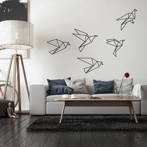 Falmatrica_origami madarak, Falmatrica & Tapéta, Dekoráció, Otthon & Lakás, Fotó, grafika, rajz, illusztráció, Remek hangulatot varázsol ez a faldekoráció a nappalidba vagy akár a lakás más helységébe. Vágógéppe..., Meska