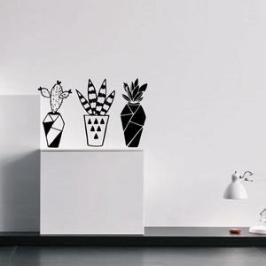 Falmatrica_3 cserepes növény, Falmatrica & Tapéta, Dekoráció, Otthon & Lakás, Fotó, grafika, rajz, illusztráció, Remek hangulatot varázsol ez a faldekoráció a nappalidba vagy akár a lakás más helységébe. Vágógéppe..., Meska
