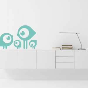 Falmatrica_MADARAK, Gyerek & játék, Dekoráció, Otthon & lakás, Falmatrica, Gyerekszoba, Fotó, grafika, rajz, illusztráció, Remek hangulatot varázsol ez a faldekoráció a nappalidba vagy akár a lakás más helységébe. Vágógéppe..., Meska