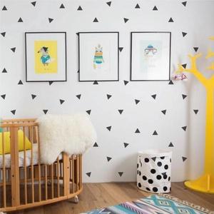 Falmatrica_Háromszögek, Gyerek & játék, Dekoráció, Otthon & lakás, Falmatrica, Gyerekszoba, Fotó, grafika, rajz, illusztráció, Remek hangulatot varázsol ez a faldekoráció lakásod bármely helységébe. Vágógéppel kivágott öntapadó..., Meska