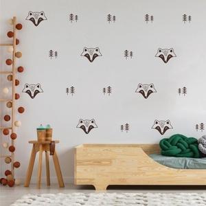 Falmatrica_Borz, Gyerek & játék, Otthon & lakás, Dekoráció, Falmatrica, Gyerekszoba, Fotó, grafika, rajz, illusztráció, Remek hangulatot varázsol ez a faldekoráció lakásod bármely helységébe. Vágógéppel kivágott öntapadó..., Meska