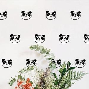 Falmatrica_Panda, Gyerek & játék, Otthon & lakás, Dekoráció, Falmatrica, Gyerekszoba, Fotó, grafika, rajz, illusztráció, Remek hangulatot varázsol ez a faldekoráció lakásod bármely helységébe. Vágógéppel kivágott öntapadó..., Meska