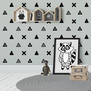 Falmatrica_Háromszögek, Gyerek & játék, Otthon & lakás, Dekoráció, Falmatrica, Gyerekszoba, Fotó, grafika, rajz, illusztráció, Remek hangulatot varázsol ez a faldekoráció lakásod bármely helységébe. Vágógéppel kivágott öntapadó..., Meska