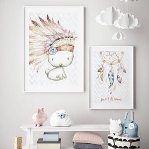 Babaszoba fali dekoráció, babaposzter- nyuszi, álomfogó - falikép, keret nélkül, Otthon & lakás, Dekoráció, Kép, Lakberendezés, Falikép, Gyerek & játék, Gyerekszoba, Baba falikép, Fotó, grafika, rajz, illusztráció, Papírművészet, Babaszoba fali dekoráció, babaposzter - nyuszi és álomfogó- több méretben, keret nélkül.\n\nAz ár 1 ké..., Meska