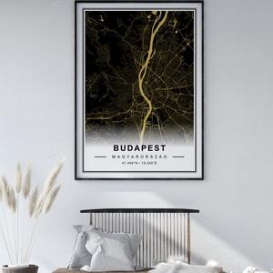 Egyedi térkép, várostérkép poszter, falikép - keret nélkül, Budapest, New York, bármilyen várossal, fekete-barna, Otthon & lakás, Dekoráció, Kép, Lakberendezés, Falikép, Esküvő, Nászajándék, Fotó, grafika, rajz, illusztráció, Papírművészet, Térkép poszter, falikép - keret nélkül\n\nSkandináv stílusú egyedi térkép poszter. Az ár 1 db-ra vonat..., Meska