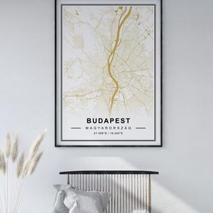 Egyedi térkép, várostérkép poszter, falikép - keret nélkül, Budapest, New York, bármilyen várossal, barna, Otthon & lakás, Dekoráció, Kép, Lakberendezés, Falikép, Esküvő, Nászajándék, Fotó, grafika, rajz, illusztráció, Papírművészet, Térkép poszter, falikép - keret nélkül\n\nSkandináv, minimál stílusú egyedi várostérkép poszter. Az ár..., Meska