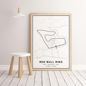 Forma 1, Formula 1, Red Bull Ring autóverseny pálya poszter, falikép, pálya térkép, Red Bull Ring racing track, circuit, Otthon & Lakás, Dekoráció, Kép & Falikép, Fotó, grafika, rajz, illusztráció, Papírművészet, Formula-1 Red Bull Ring autóverseny pálya térkép, minimál stílusban - keret nélkül.\n\nHa más ország p..., Meska