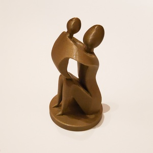 3D nyomtatott Anya-gyermek szobor, nem csak Anyák napjára :), Otthon & Lakás, Dekoráció, Szobrászat, 3D nyomtatott szobor, mely Anyát és Gyermekét ábrázolja :)\n\nA szobor biológiailag lebomló, növényi a..., Meska