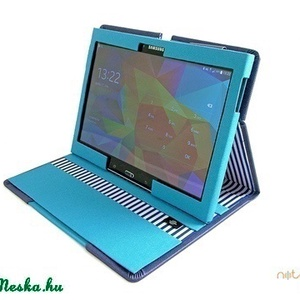 TABLET tok-SAMSUNG-kék csíkos (noteshell) - Meska.hu