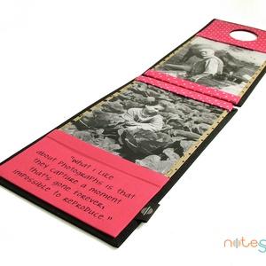 Fényképtartó-fekete-pink (noteshell) - Meska.hu