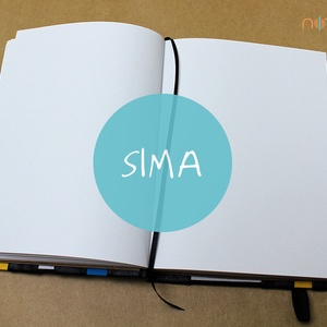 XL-es SIMA noteszBELSŐ (noteshell) - Meska.hu