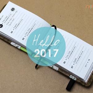 2017, XS-es HETI beosztású határidőnapló BELSŐ (noteshell) - Meska.hu