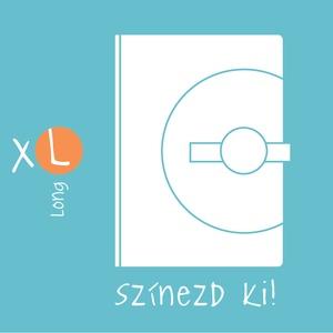 XL,\'KORONGOS\' határidőnapló/notesz-Állítsd össze a saját noteszedet!, Naptár, képeslap, album, Otthon & lakás, Jegyzetfüzet, napló, Naptár, Könyvkötés, XL-es korongos (click-in +) CSERÉLHETŐ BELSEJŰ notesz / határidőnapló\n- egyedi színösszeállításban\n\n..., Meska