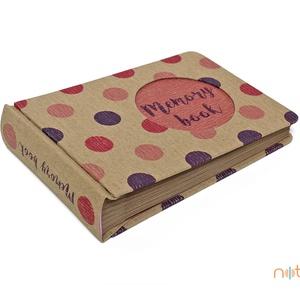 Eco kis fotóalbum - pink és lila színes pöttyös (noteshell) - Meska.hu