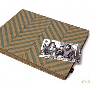 Eco nagy fotóalbum - kék halszálka mintás (noteshell) - Meska.hu