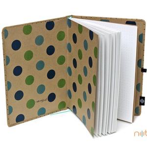 Eco XL pontozott notesz - fekete, apró pöttyös (noteshell) - Meska.hu